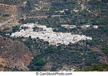 White village in the mountains. Andalusia, Spain