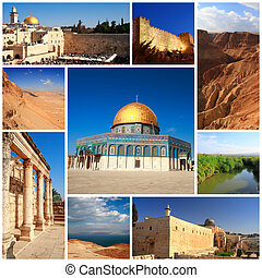 Impressions of Israel, Collage of Travel Images