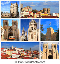 Impressions of Lisbon, Collage of Travel Images