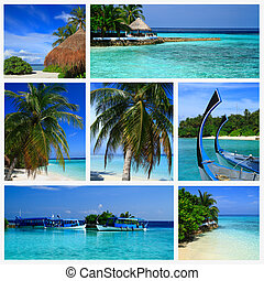 Impressions of Maldives, Collage of Travel Images