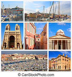 Impressions of Marseille, Collage of Travel Images