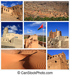Impressions of Oman, Collage of Travel Images