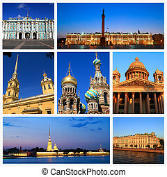 Impressions of Saint Petersburg, Collage of Travel Images