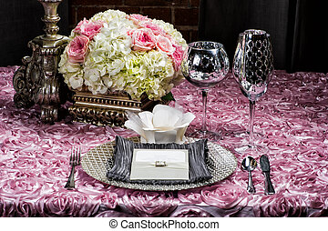 Wedding table setting - Image of a place setting at a...