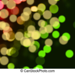 Bacground with color bokeh. - Green, golden and red bokeh on...