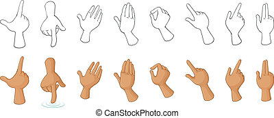Different hand gestures - Illustration of the different hand...