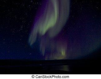 Aurora Borealis over Bay 1 - Amazing Aurora Borealis, or...