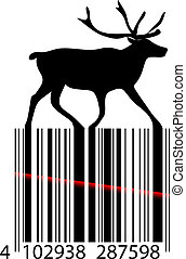 Black and white Christmas barcode - Black and white...