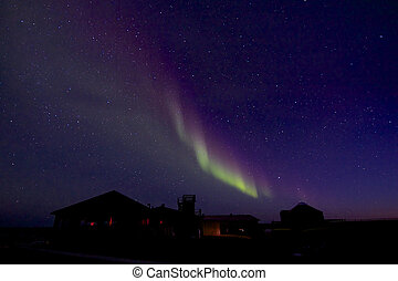 Aurora Borealis over Building 2