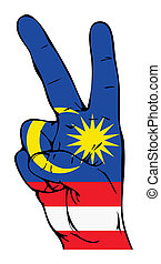 Peace Sign of the Malaysian flag