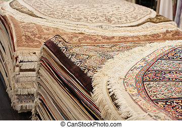 Interior of the carpet shop - Interior of the large carpet...