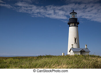 Yaquina Head Black and White Lighthouse