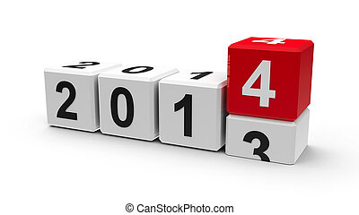 White cubes 2014 - White cubes with 2013-2014 change on a...