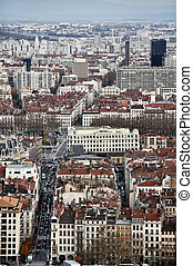 Aerial view of Lyon, France