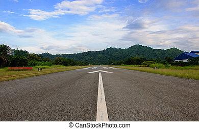 Airport Runway Beautiful Blue Sky