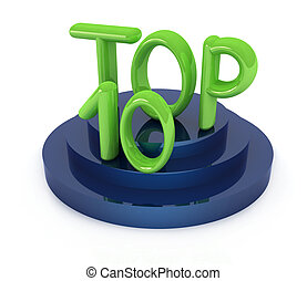 Top ten icon on white background 3d rendered image