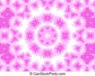 Abstract pattern of pink petals