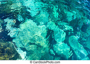 Water rocky background, Atlantic Ocean. - Turquoise water...