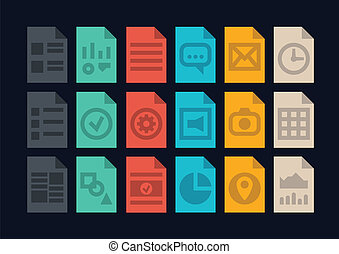 Document file types icons