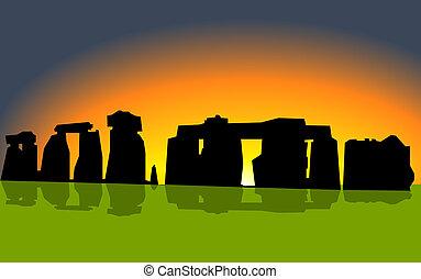Stonehenge on sunset