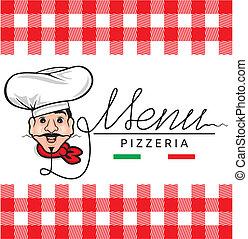 メニュー, イタリア語, レストラン