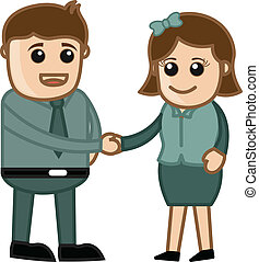 Business Handshake - Cartoons - Business Handshake -...