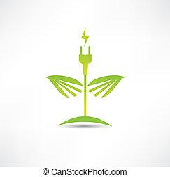 Eco green energy icon