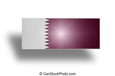 Flag of Qatar (stylized I). - Current national flag and...