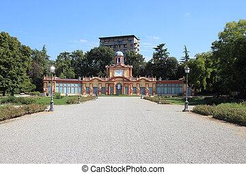 Estense Gardens in Modena - Palazzina Ducale in the Estense...