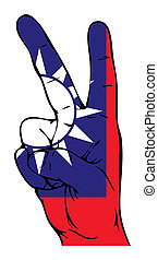 Peace Sign of the Taiwan flag