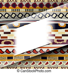 Abstract background with African patterns