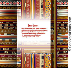 Background with African patterns. eps10