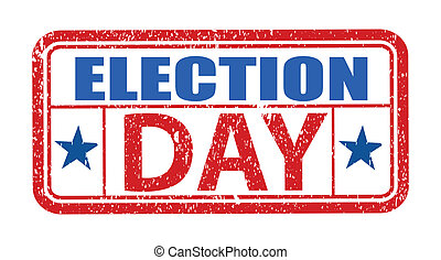 Election Day Grunge Stamp Vector