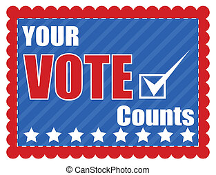 Your Vote Counts - Election Day Vector Illustration