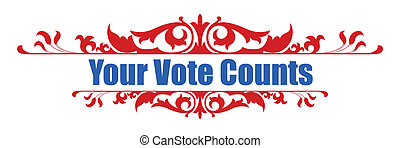 Your Vote Counts - Banner Vector - Your Vote Counts -...