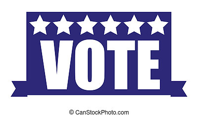 Vote banner - Election Day Vector Illustration