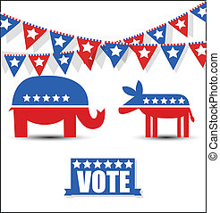 Election Day Sign and Symbol Vector - USA Election Day...