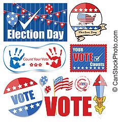 USA Voting Day Designs Set