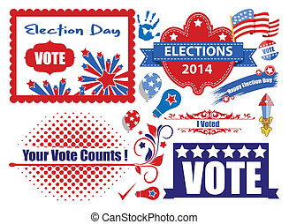 Election Day Graphics Set