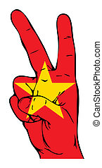 Peace Sign of the Vietnamese flag