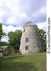 Mill and Granary in Minneopa Park - Old gristmill and...