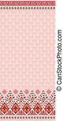 seamless pattern in pink colors with a wide border