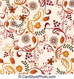seamless floral pattern in shades