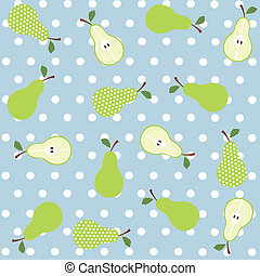 Seamless pear background