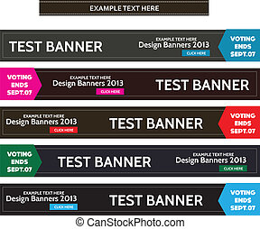 Horizontal vintage web banner