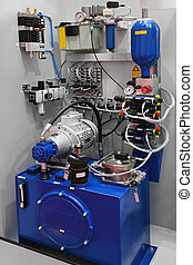 Hydraulic pump with equipment for factory production