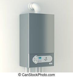 Home gas-fired boiler The installation of gas equipment...