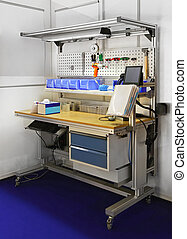 Technician work bench - Technician workbench desk with...