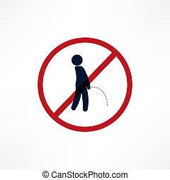 No peeing symbol