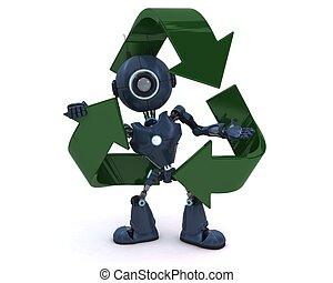 android, reciclagem, Símbolo